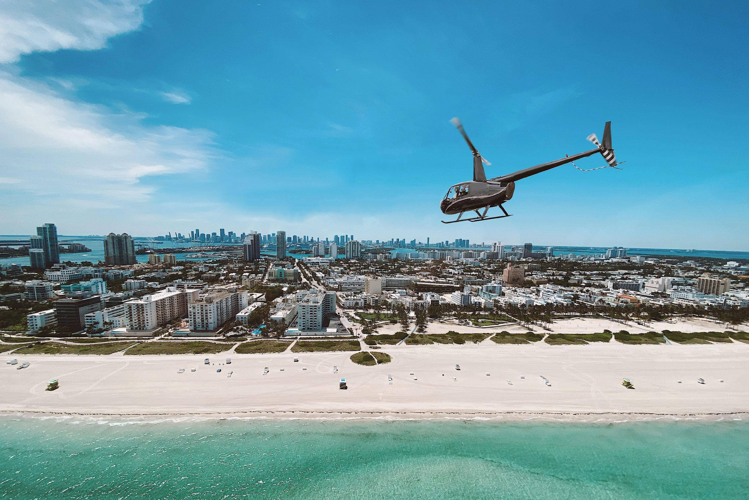 Helicopter tour south beach