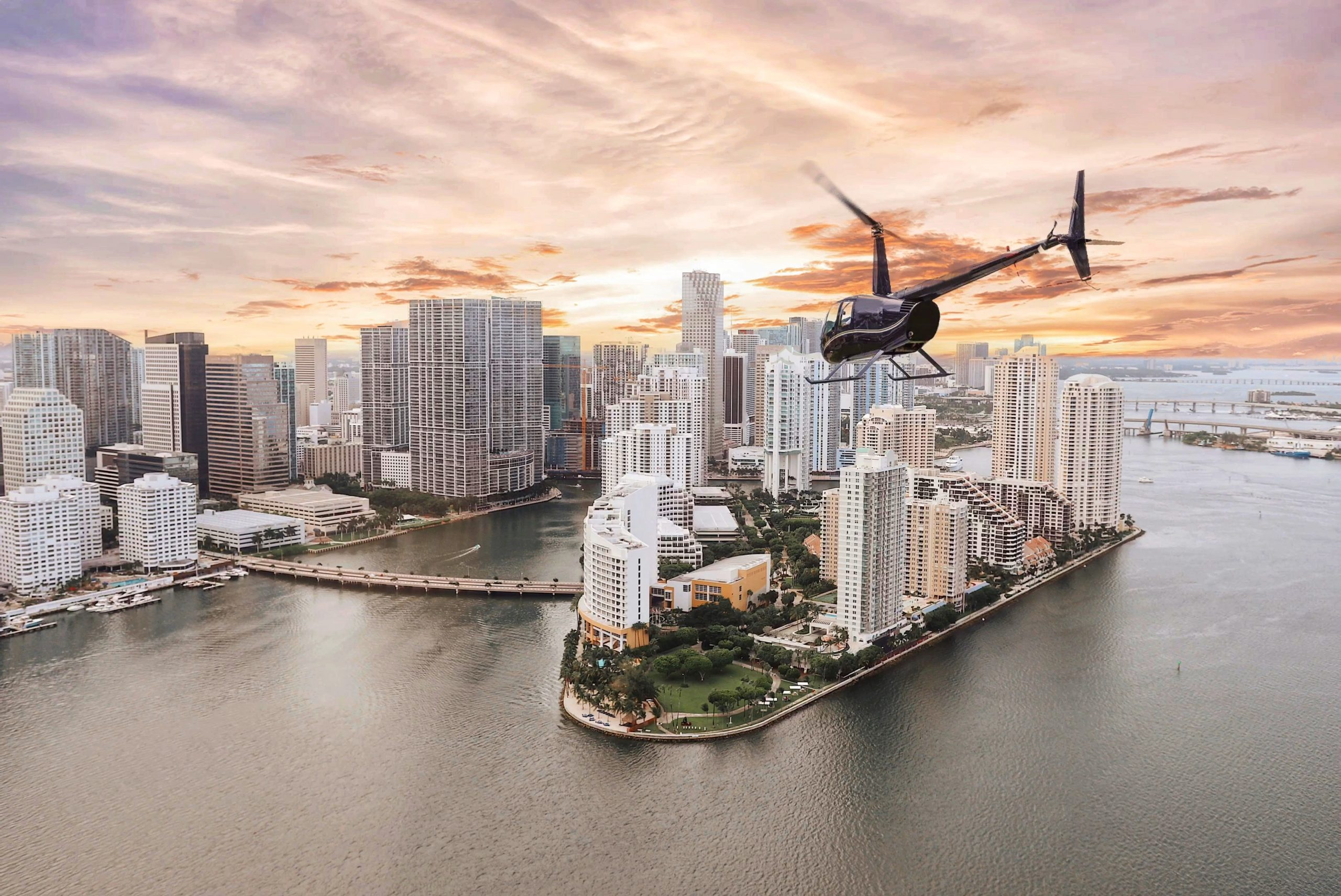 Sunset Helicopter Tour Miami